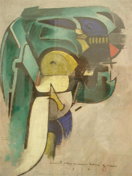 Painting IV (Mechanical Abstraction), 1916 - Morton Shamberg