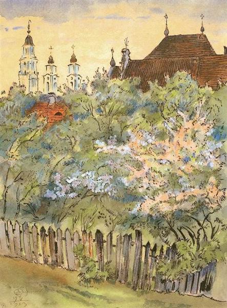 Spring in Kaunas - Mstislav Dobuzhinsky