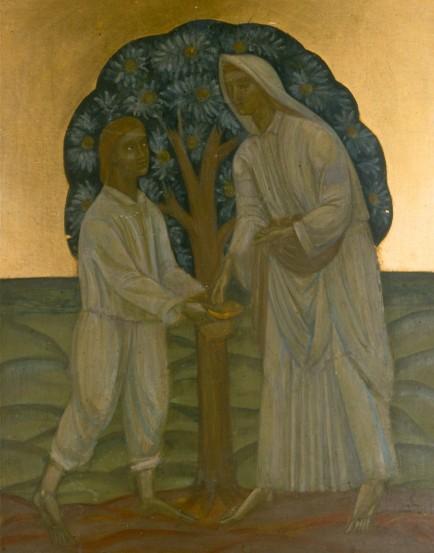 Двоє під деревом, c.1915 - Михайло Бойчук