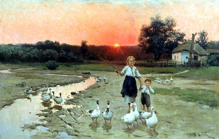 Becoming the evening - Mykola Pymonenko