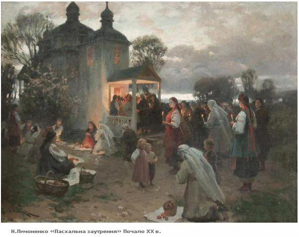 Easter vigil - Mykola Pymonenko