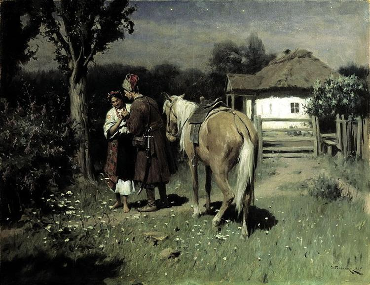 Ukrainian Night, 1905 - Mykola Pymonenko