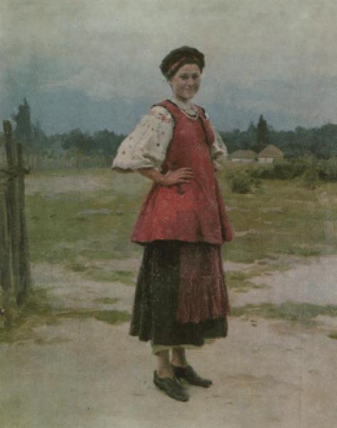 Young Woman - Mykola Pymonenko