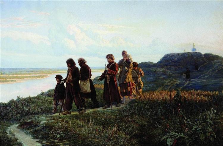 Blind, 1879 - Николай  Ярошенко