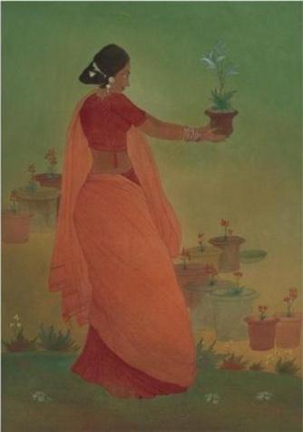 Flower gatherer - Nandalal Bose