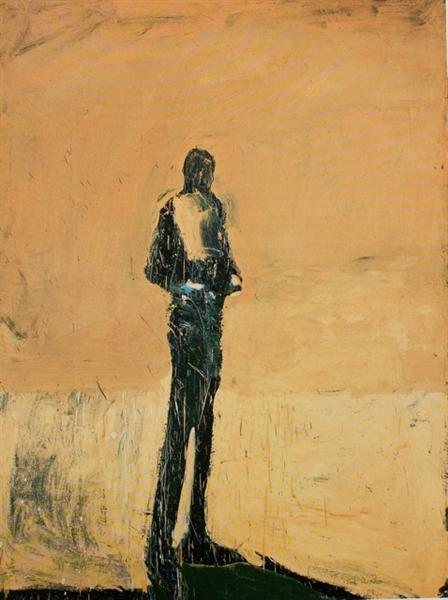 Standing Figure with Hands on Belt, 1960 - Nathan Oliveira