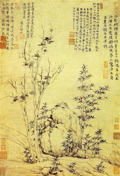 Autumn Wind in Gemstones Trees - Ni Zan