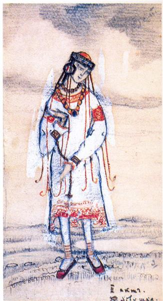 Girl, 1913 - Nicholas Roerich