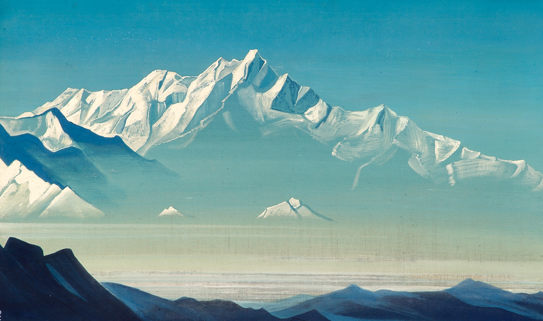 Nicholas Roerich Mount-of-five-treasures-two-worlds-1933