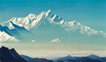 Mount of five treasures (Two worlds) - Nikolái Roerich