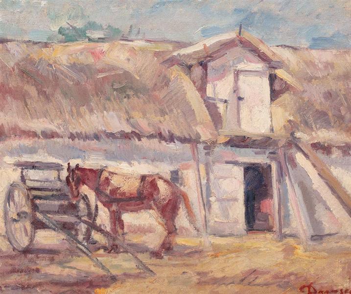 În faţa şopronului, 1930 - Nicolae Darascu