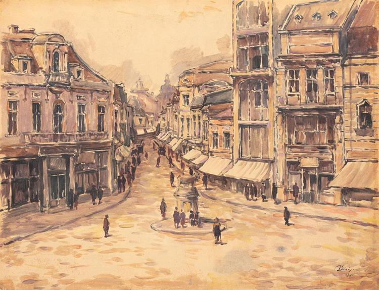 Towards Lipscani, 1921 - Nicolae Darascu