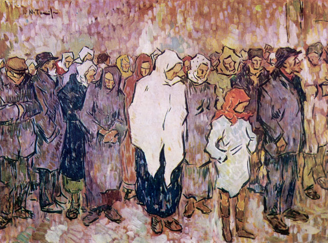 Queuing for Bread, 1920 - Nicolae Tonitza