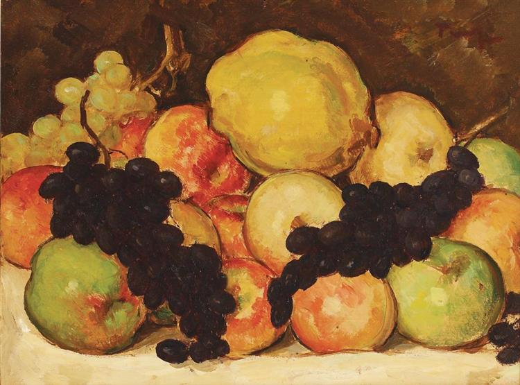 Still Life with Fruit - Nicolae Tonitza
