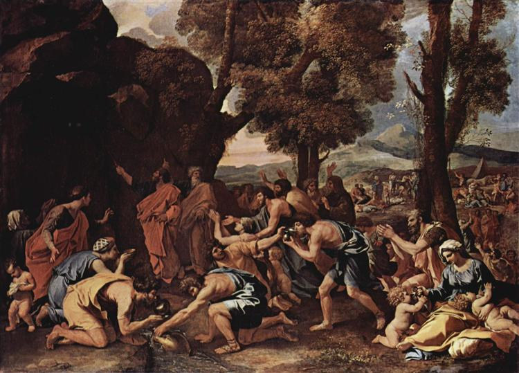 Moses Striking Water from the Rock, 1633 - 1635 - Nicolas Poussin