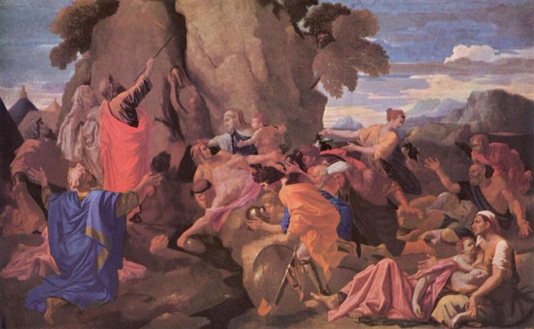Moses Striking Water from the Rock, 1649 - Nicolas Poussin