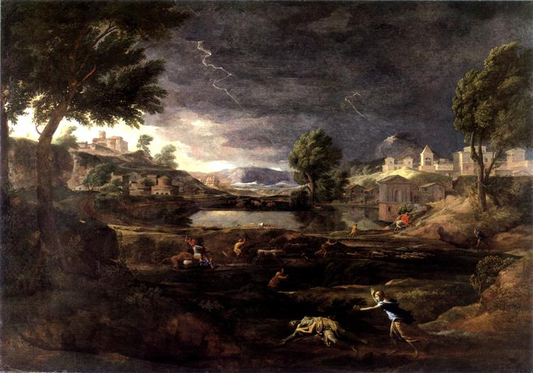 Stormy Landscape with Pyramus and Thisbe, 1651 - Nicolas Poussin