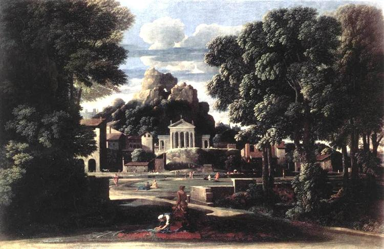 The Ashes of Phocion collected by his Widow, 1648 - Nicolas Poussin