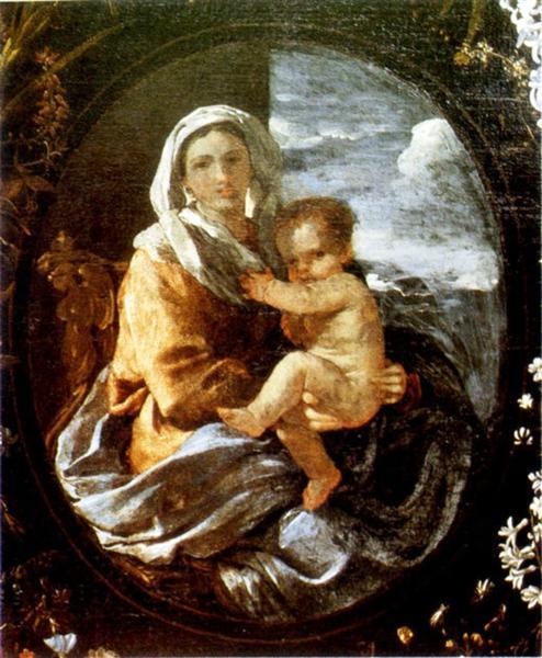 Virgin and Child, c.1625 - 1627 - Nicolas Poussin