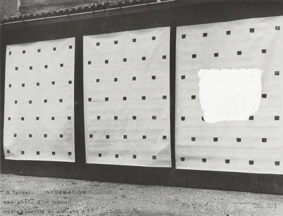 Information, 1978 - Niele Toroni