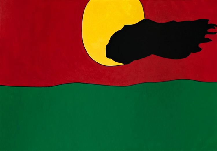 Paisagem - Bandeira Portuguesa - Nikias Skapinakis