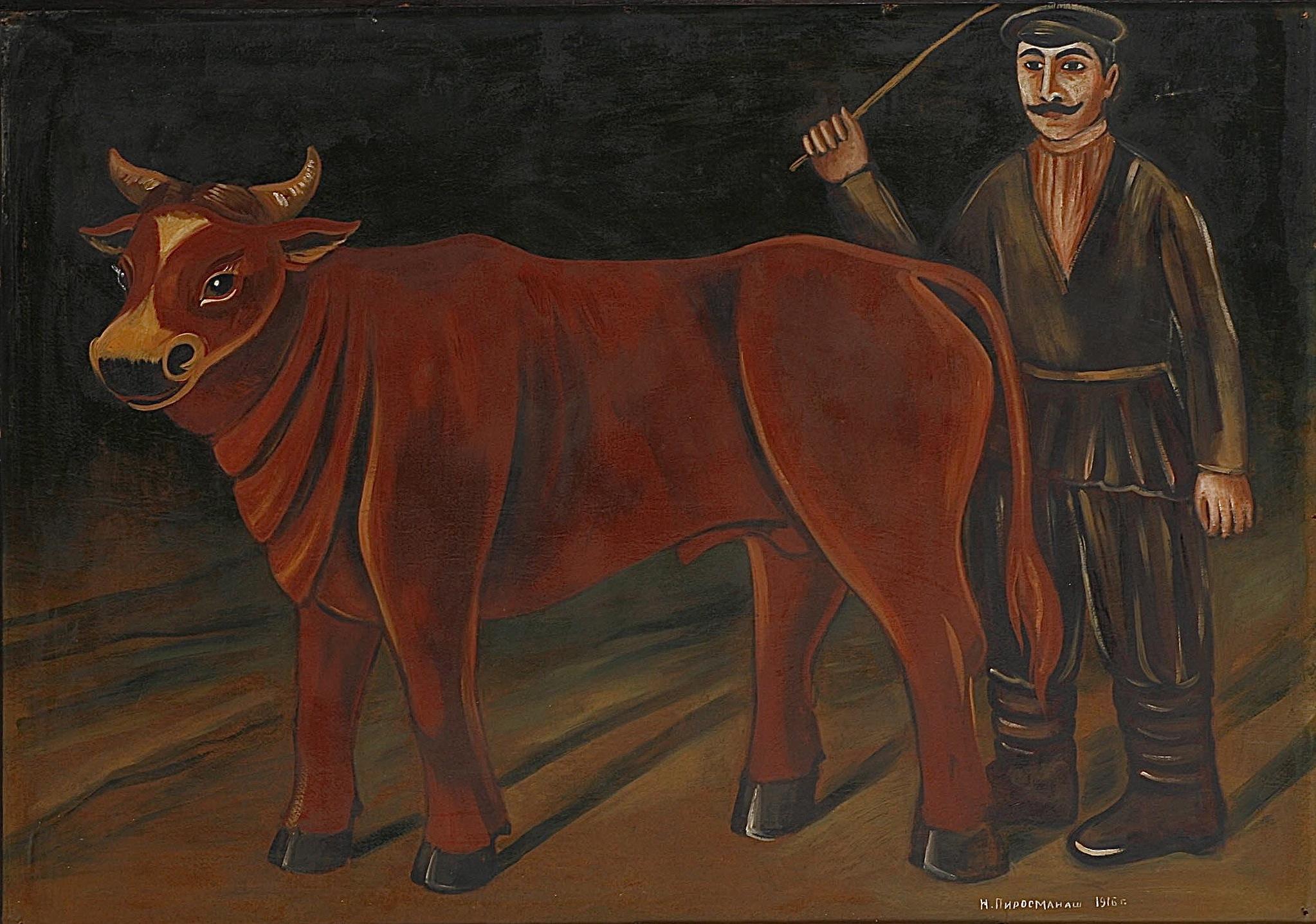 Farmer with a Bull, 1916