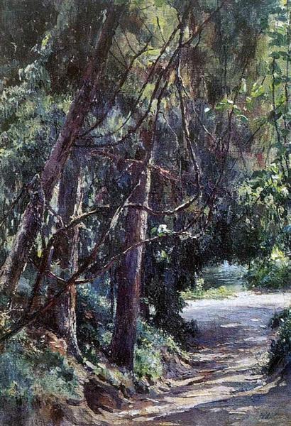 Аллея в старом парке, 1893 - Николай Ге