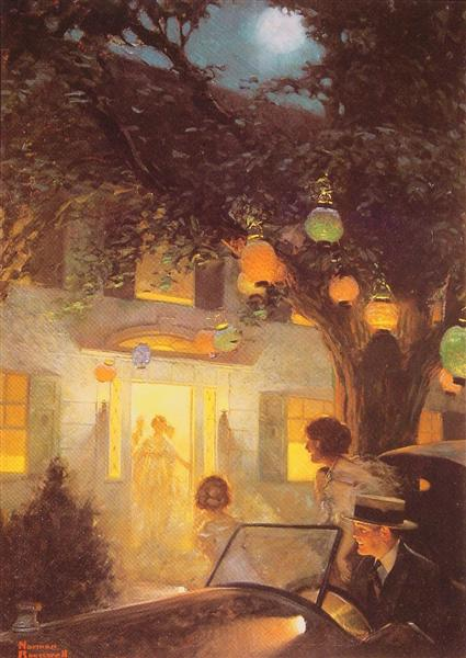 And the Symbol of Welcome is Light, 1920 - Norman Rockwell