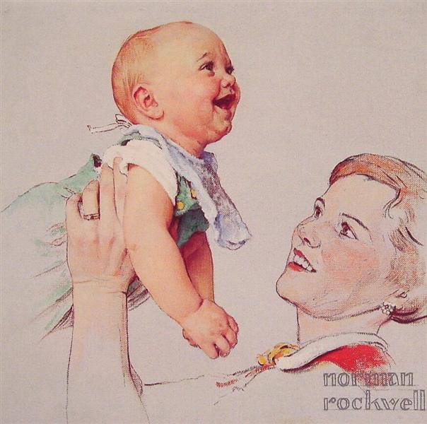 Delight, 1956 - Norman Rockwell