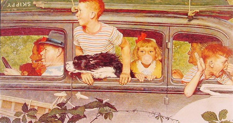 Going and Coming, 1947 - Norman Rockwell