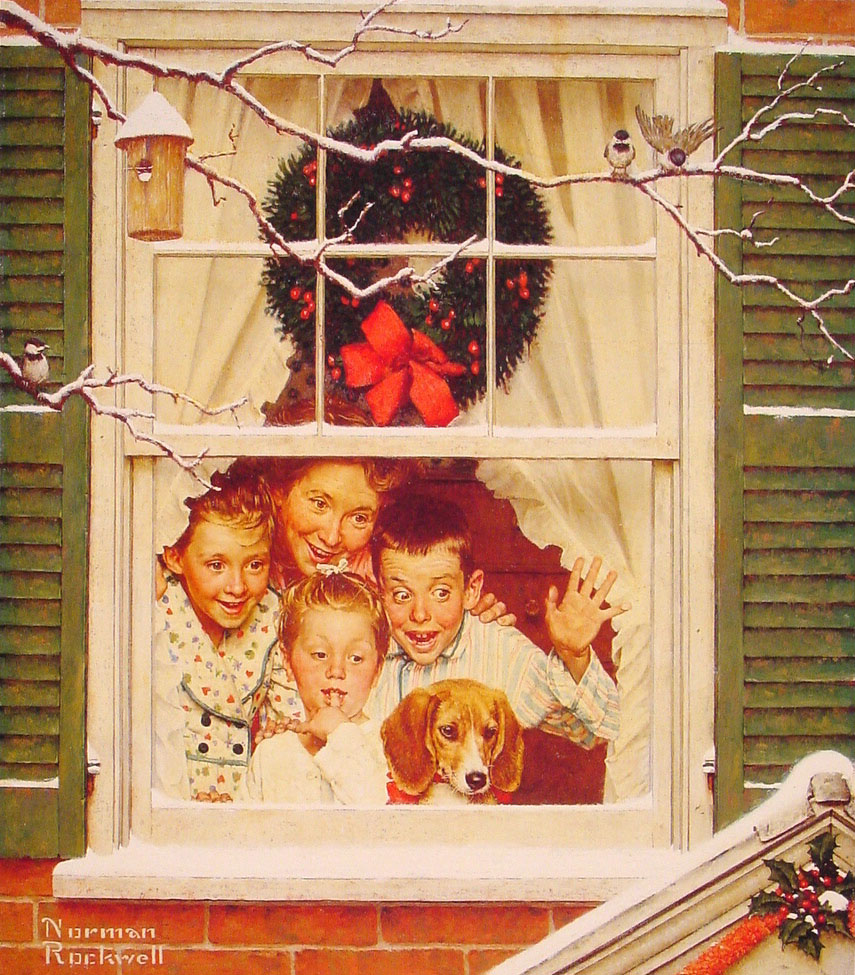 Norman Rockwell Christmas Paintings,