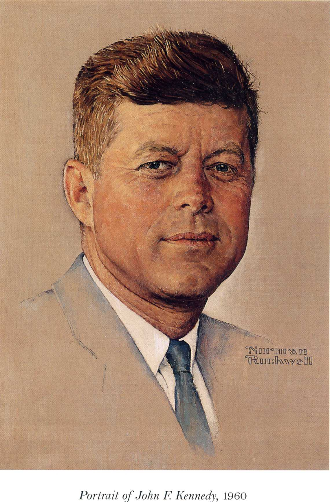 Portrait of John F.Kennedy - Norman Rockwell - WikiPaintings.