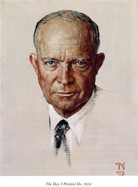 The Day I Painted Ike, 1952 - 諾曼.洛克威爾