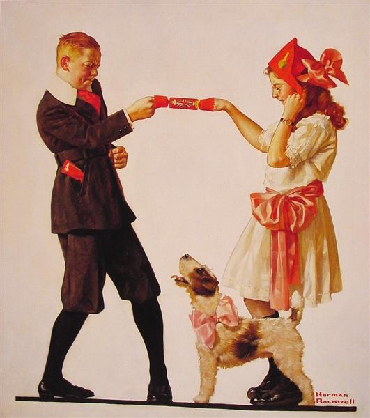 The Party Favour, 1919 - Norman Rockwell