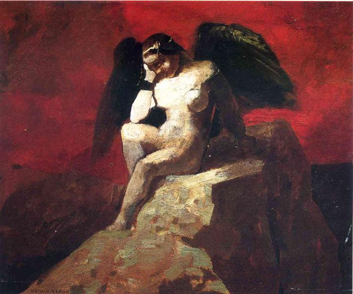 Angel in Chains, c.1875 - Odilon Redon