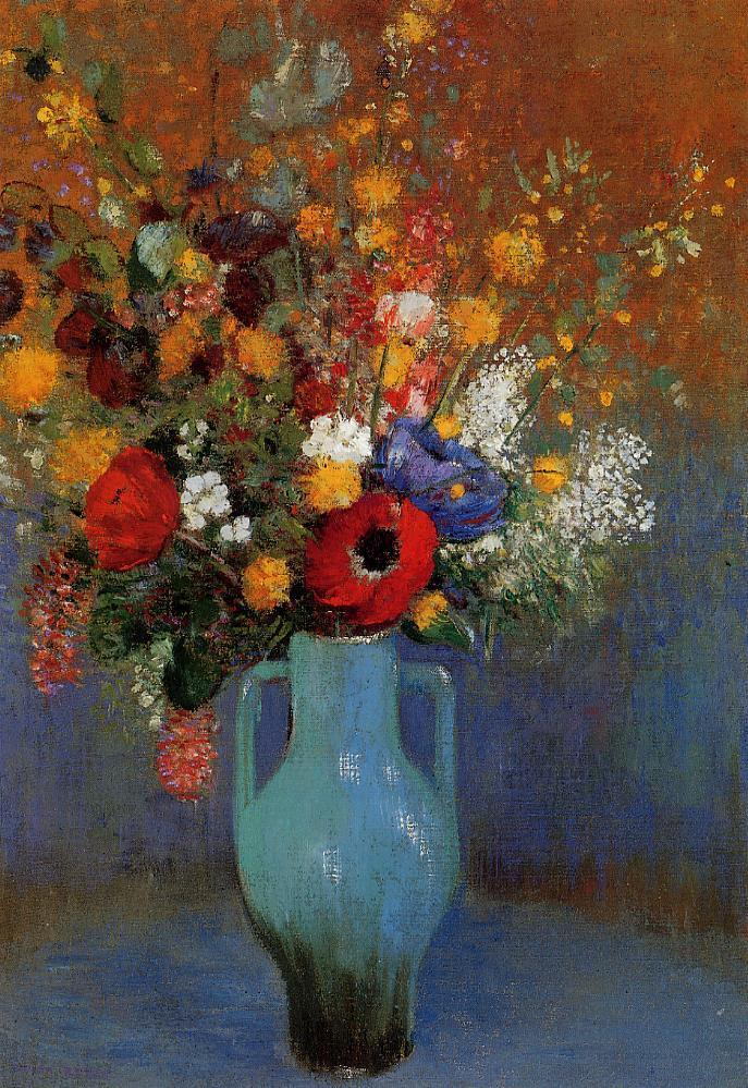 bouquet of wild flowers odilon redon. Black Bedroom Furniture Sets. Home Design Ideas
