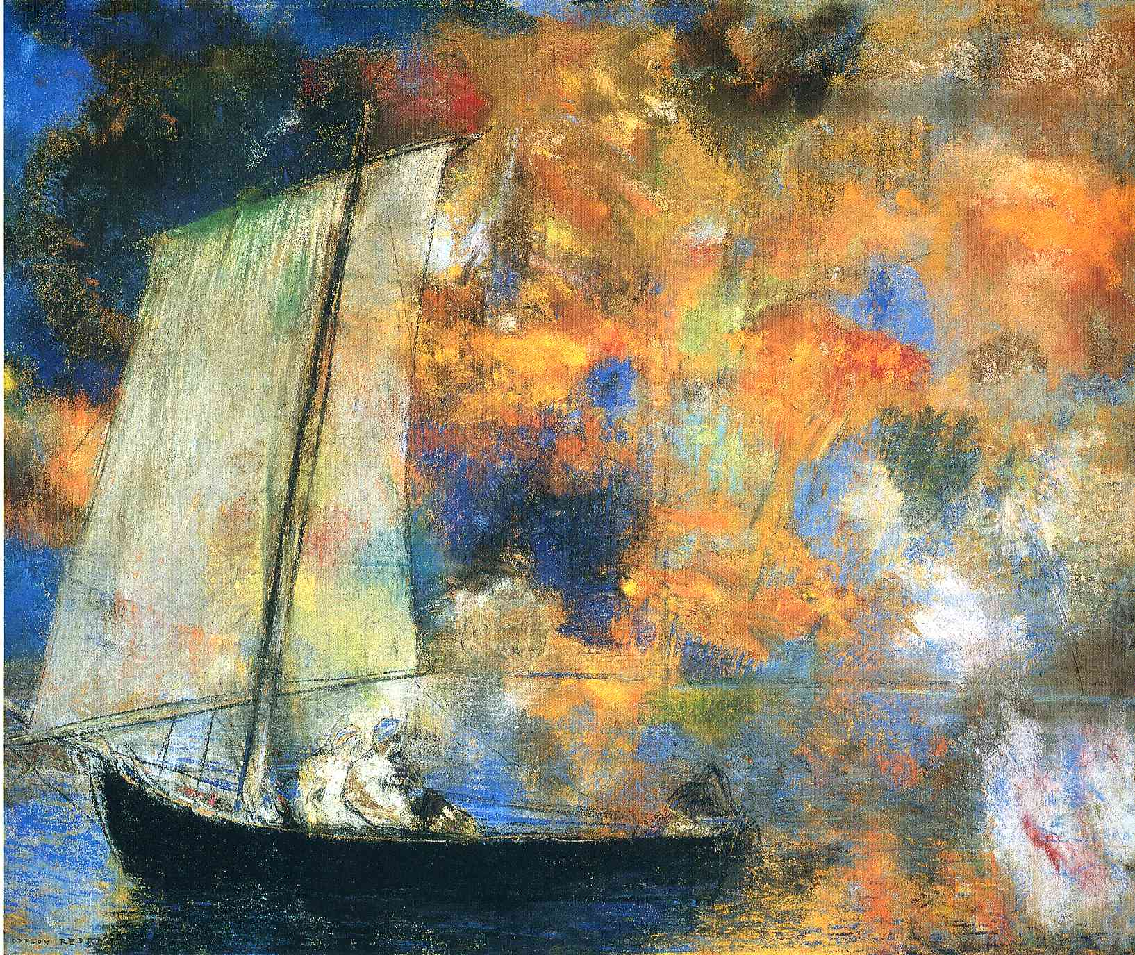 Flower Clouds by Odilon Redon, 1903