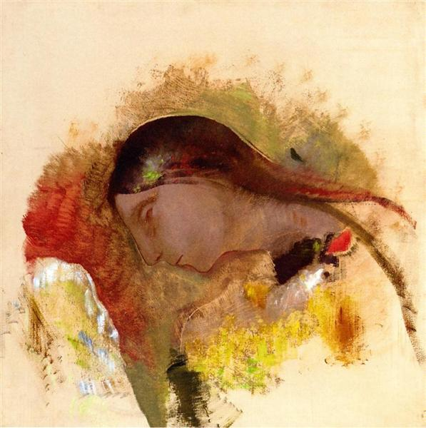 Head of a Sleeping Woman, c.1905 - Odilon Redon