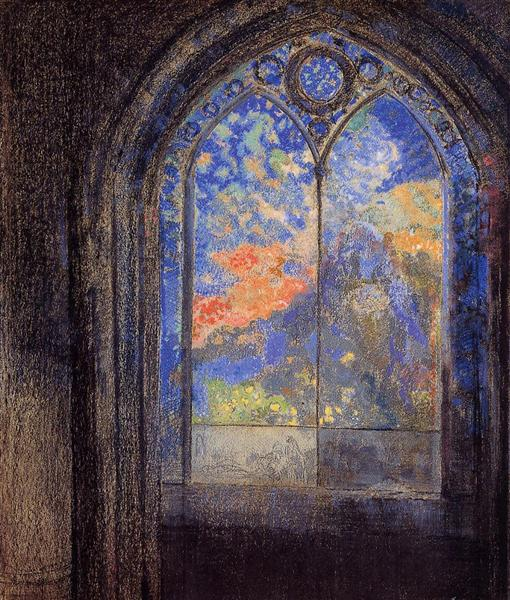 Stained Glass Window (The Mysterious Garden), c.1905 - Odilon Redon