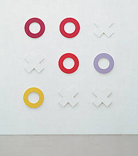 Untitled (tic tac toe series), 2002 - Olivier Mosset