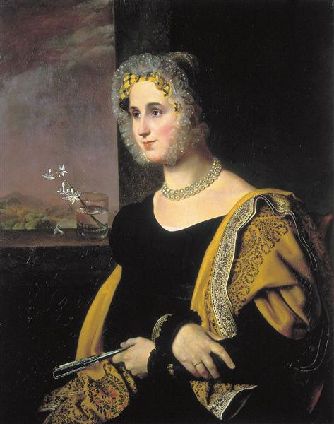 Portrait of Ekaterina Avdulina - Орест Кіпренський