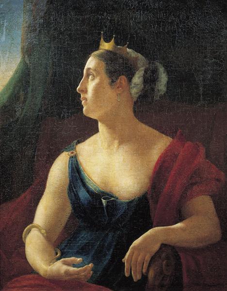 Portrait of Ekaterina Semenova - Orest Kiprensky