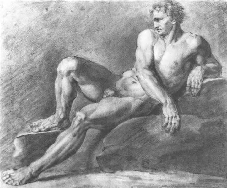 Reclining sitter, 1802 - Orest Kiprensky