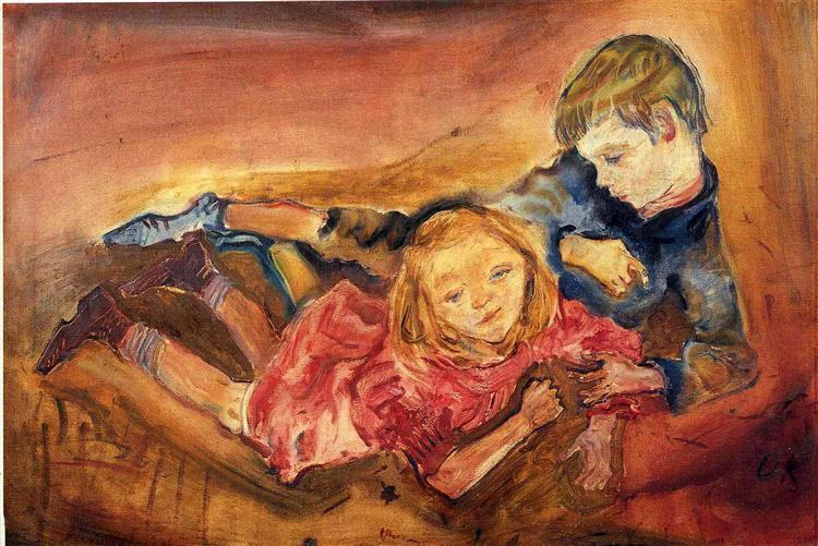 Children Playing, 1909 - Оскар Кокошка