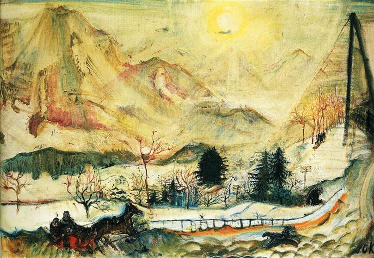 Dent du Midi, 1910 - Oskar Kokoschka