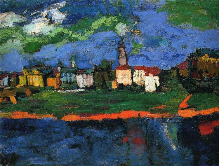 The Elbe Near Dresden, c.1921 - Oskar Kokoschka