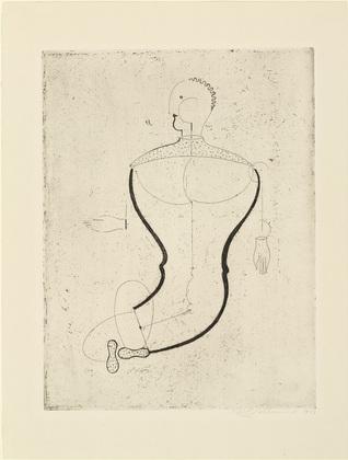 Abstract Figure, Facing Left: Figure S (Abstrakte Figur, nach links: Figur S), 1922 - Oskar Schlemmer