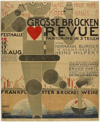 Poster for the Great Bridge Revue (Große Brücken Revue), 1926 - Оскар Шлеммер