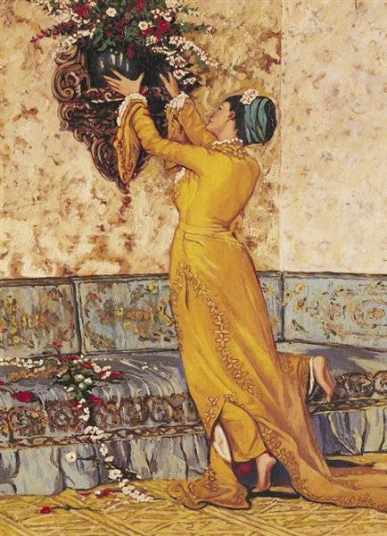 Girl Who Fits the Vase - Osman Hamdi