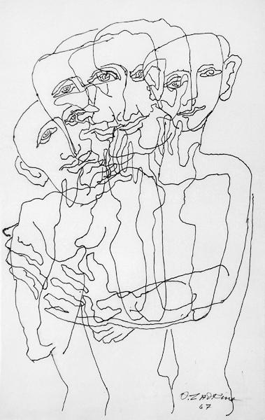 Group to the four faces, 1967 - Ossip Zadkine